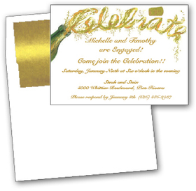 start your formal celebration with these elegant invitations the cork has been popped and is
